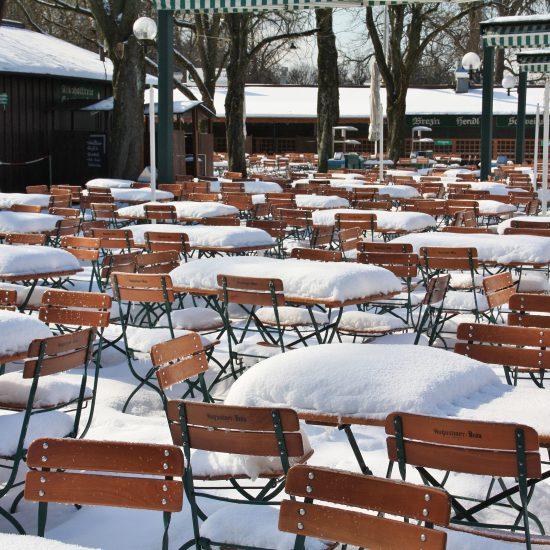 Ewige Winterzeit im Gastgarten